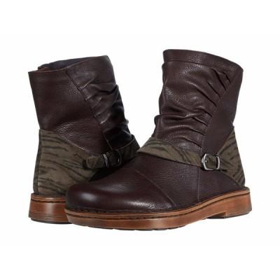 ナオト ブーツ&レインブーツ シューズ レディース Lorca Soft Brown Leather/Safari Olive Suede
