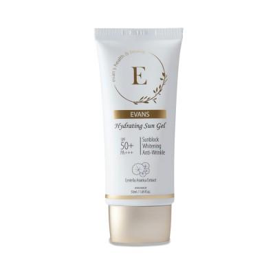 韓国コスメ エバンス ハイドレイティング UV ジェル 低刺激 日焼け止め 化粧下地 SPF50+ PA+++ ツボクサエキス 50ml CICA ヒアルロン酸5種類 保湿 紫外線 敏感肌
