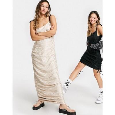 エイソス ASOS DESIGN レディース ワンピース スリップドレス ミニ丈 ワンピース・ドレス Circular Reversible Mini Slip Dress ピンク/ブラック