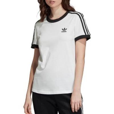 アディダス レディース シャツ トップス adidas Originals Women's 3-Stripe T-Shirt White/Black