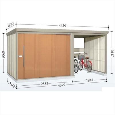 物置 屋外 おしゃれ タクボ物置 TP/ストックマンプラスアルファ TP-43R26 一般型 標準屋根 トロピカルオレンジ
