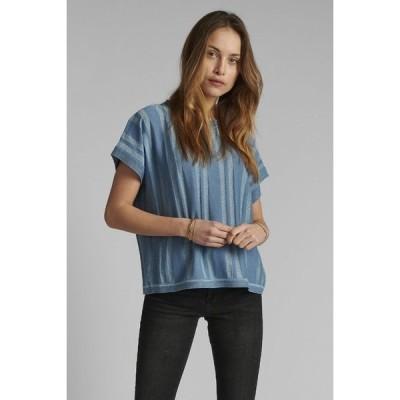 ニンフ Tシャツ レディース トップス NUDAGAN DARLENE - Print T-shirt - blue shadow