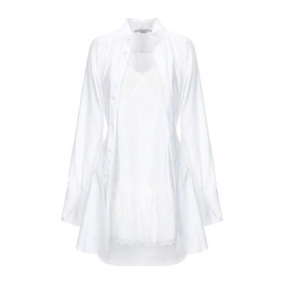 ステラ マッカートニー STELLA McCARTNEY ミニワンピース&ドレス ホワイト 40 コットン 100% / ポリエステル ミニワンピー