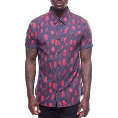 バイヤーズピック Buyers Picks メンズ シャツ トップス pineapple printed woven Navy/Red