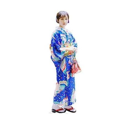 FADVES 浴衣 レディース 単品 蝶柄 女性用 大人用 和装 和服 日本の着物 ゆかた 可愛い レトロ クラシック 花火大会 夏祭り 盆