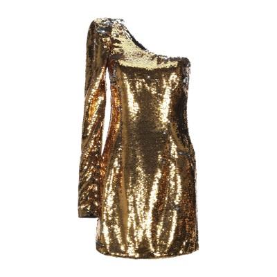 .AMEN. ミニワンピース&ドレス ゴールド 44 ポリエステル 100% ミニワンピース&ドレス