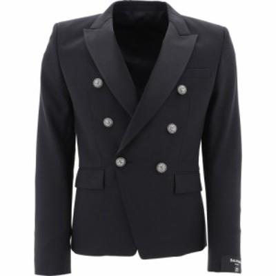 バルマン Balmain メンズ ジャケット ダブルブレストジャケット アウター Double-Breasted Jacket With Silver Buttons Black