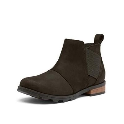 ソレル Women's Emelie Chelsea Black/AnkleHigh Boot  6M