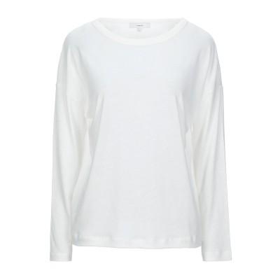 VINCE. T シャツ ホワイト XS 指定外繊維(テンセル)® 50% / リネン 30% / コットン 20% T シャツ