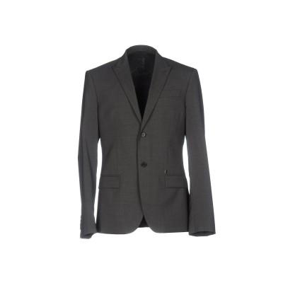 ビッケンバーグ BIKKEMBERGS テーラードジャケット 鉛色 48 ポリエステル 54% / バージンウール 45% / ポリウレタン 1%