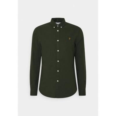 ファーラー シャツ メンズ トップス BREWER - Shirt - evergreen