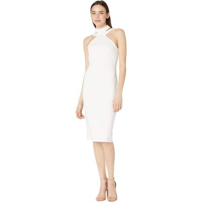 ベベ Bebe レディース ボディコンドレス タイト ワンピース・ドレス Bodycon Halter Dress Ivory