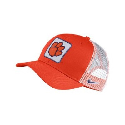 ナイキ メンズ 帽子 アクセサリー Clemson Tigers Patch Trucker Cap Orange/White