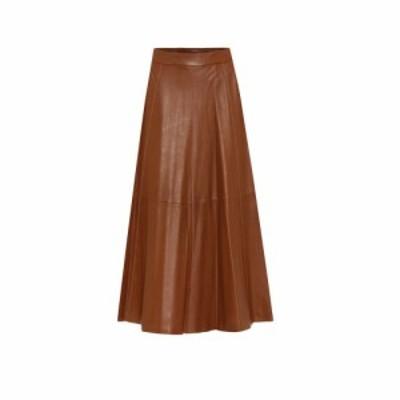 ラルフ ローレン Polo Ralph Lauren レディース ひざ丈スカート スカート High-rise leather midiskirt Soft Brown