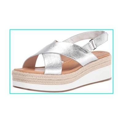 CC Corso Como Women's PENELOPY Wedge Sandal, Silver, 8.5 M US【並行輸入品】