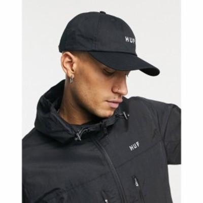 ハフ HUF メンズ 帽子 Essentials Og Logo Cv 6 Panel In Black ブラック