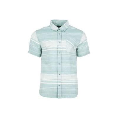 ユナイテッドバイブルー United By Blue メンズ 半袖シャツ トップス Ridgerunner SS Stripe Button Down Shirt Sea Green