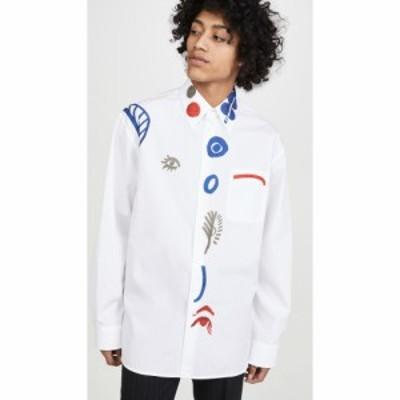 マルニ Marni メンズ シャツ トップス Cotton Poplin White