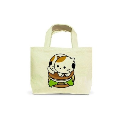 三毛猫バーガー トートバッグS(ナチュラル)