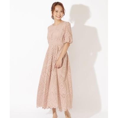 (And Couture/アンドクチュール)ボリューム袖レースワンピース/レディース ピンク