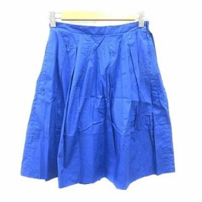 【中古】マカフィー MACPHEE トゥモローランド フレアスカート ミニ 34 青 ブルー /YK レディース