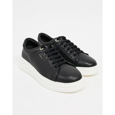 フィオレッリ Fiorelli レディース スニーカー レースアップ シューズ・靴 anouk leather lace up trainers in black ブラック