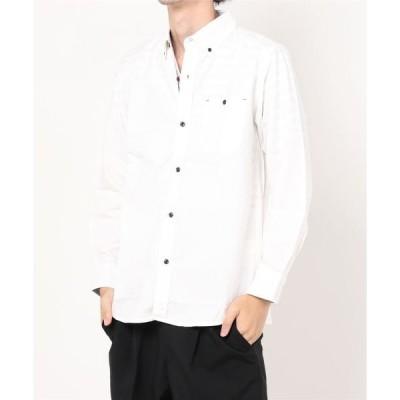 シャツ ブラウス 【ALWAYS GOOD TIME/オールウェイグッドタイム】アンサンブル(オックスフォードボタンダウンシャツ+ボーダーTシャツ)