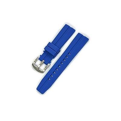 【新品・送料無料】CASSIS[カシス] ラバー 時計ベルト 完全防水 CREMONA クレモナ 20mm ダークブルー 交換用工具付き ULS00376062020M