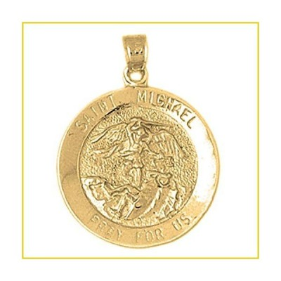 Jewels Obsession St. Michael ペンダント | イエロー ゴールド Saint Michael ペンダント, Made in USA