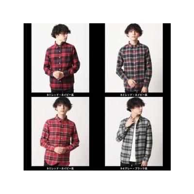 【限定SALE】メンズ ネルチェックシャツ(849-00) 47