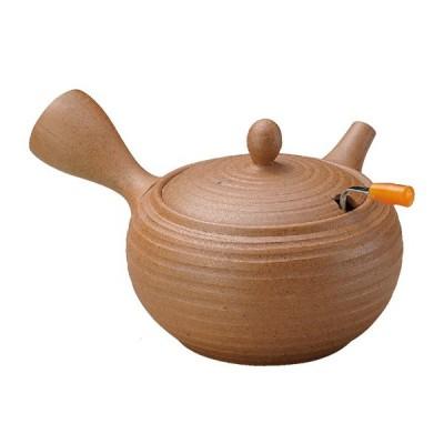 常滑焼 急須 7-185 一心 20号 バラ吹 ハンドカップ急須 360ml ハンドカップ 茶ガラを簡単に捨てれます 日本製 箱入り T1287