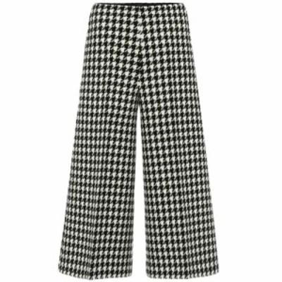 グッチ Gucci レディース ボトムス・パンツ Wool and cotton wide-leg pants Black/Bone