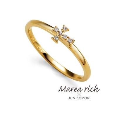 K10ゴールド ダイヤモンド クロスモチーフ リング|Marea rich マレア リッチ|