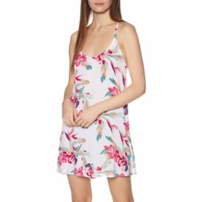 ロキシー Roxy レディース ワンピース ワンピース・ドレス be in love dress Bright White Tropic Call S