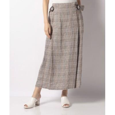 【ジャーナルスタンダード アウトレット】 UHR Buckled Long Skirt レディース グレー 36 JOURNAL STANDARD OUTLET