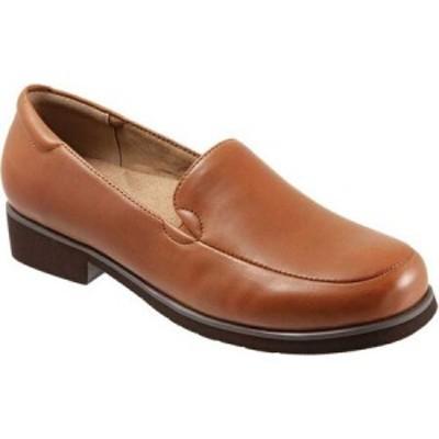 トロッターズ Trotters レディース ローファー・オックスフォード モックトゥ シューズ・靴 Jaiden Moc Toe Loafer Luggage Leather