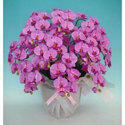 【光触媒】【造花】胡蝶蘭 大輪 赤ピンク 10本立ち 送料無料