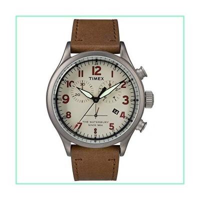 Timex TW2R38300 Waterbury Men's Watch Brown 42mm Stainless Steel【並行輸入品】