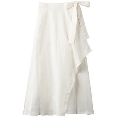 Julier ジュリエ リネンラップスカート レディース オフホワイト 1