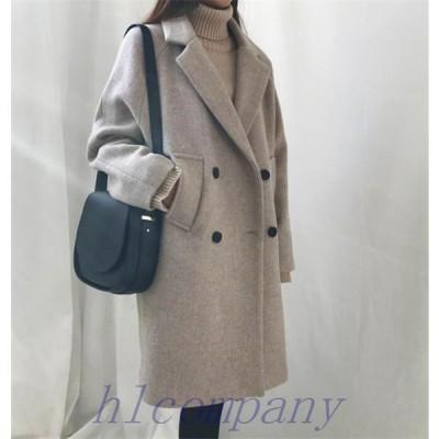 ロングコートレディースチェスターコートラシャ洋服アウターオーバーコート冬トレンドコーデ20代30代40代50代