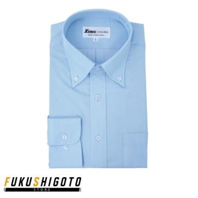 XEBEC 15159 ボタンダウン長袖シャツ S-4L 【オフィスウェア スーツ ジーベック トップス】