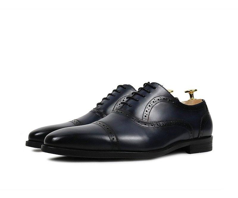 燻黑方頭牛津鞋-HX286-532