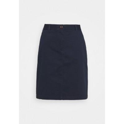 ガント レディース スカート ボトムス SLIM CLASSIC SKIRT - Mini skirt - marine marine