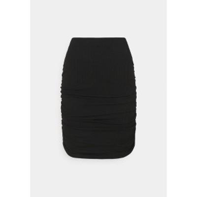 オブジェクト レディース スカート ボトムス OBJLUCA PAPE SKIRT  - Mini skirt - black black