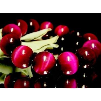 ピンクタイガーアイ桃虎目石16ミリ数珠