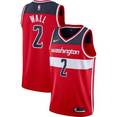 ナイキ Nike メンズ バスケットボール ドライフィット トップス Washington Wizards John Wall #2 Red Dri-FIT Swingman Jersey