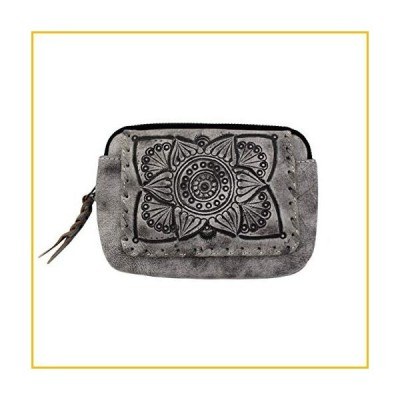 【☆送料無料☆新品・未使用品☆】Mandala Design Genuine Leather Zip Around Wallet (Gray)【並行輸入品】