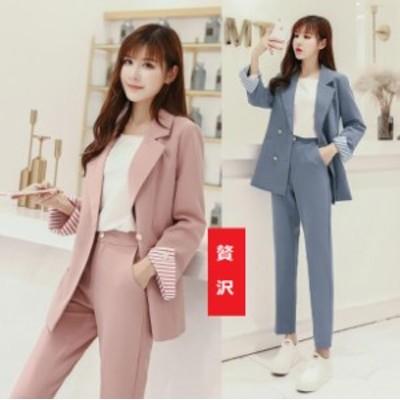 新品 ハイエンド ファッション パンツ スーツ ジャケット レディース 通勤 アウター オフィス 通勤/OL 3点セット