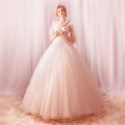 ウエディングドレス レディース プリンセスドレス 花嫁ドレス 上品な ブライダルドレス ロングドレス オシャレ 演奏会ドレス 素敵な 写真撮影 ドレス
