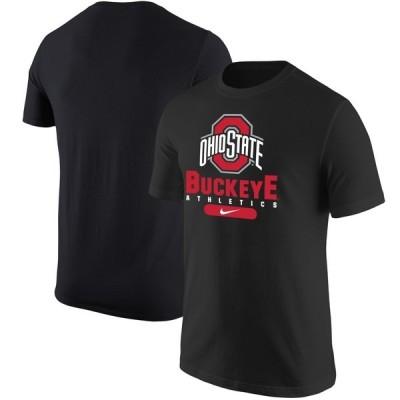 ナイキ Tシャツ トップス メンズ Ohio State Buckeyes Nike Athletics Stack TShirt Scarlet